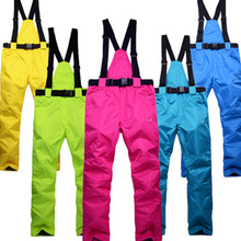new outdoor -35 degree snow pants plus size elastic waist lady trousers winter skating pants skiing outdoor ski pants for women(China)