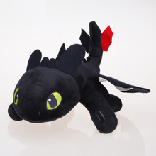 33cm How to Train Your Dragon Toothless dragon toy Night Fury Plush Toy Stuffed doll Toys(China)