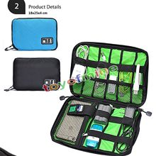 New Qualified Storage bag Travel Organizer Storage Collection Bag Case Pouch Digital Gadget Cable Adapter dig(China)
