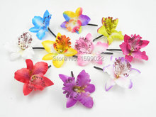 10pcs/lot Vacation Thailand Flowers Cattleya Orchid Hair Clips Head Accessories for Women Hairpins Festival Hawaiian Headwear