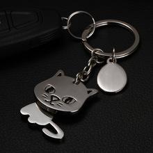 cat keychain cute key ring for women kitten key chain key holder high quality llaveros chaveiro portachiavi(China)