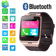 Bluetooth Smartwatch GV18 IOS Android Wear Wristwatch With Camera Fitness Tracker Passometer GSM NFC Smart Mobile Phone Watch(China)