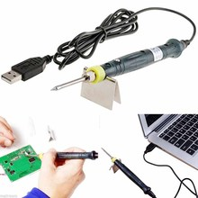 New Professional Mini 5V 8W LED Indicator USB Powered Welding Soldering Iron Kit Electric Solder Iron Tools(China)