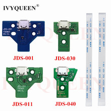 for Playstation 4 PS4 Controller Charging Socket Port Circuit Board JDS 001 011 030 040 With 12 14 pin Power Flex Ribbon Cable