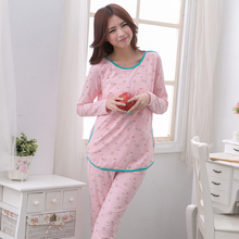 MamaLove Autumn Maternity Sleepwear Breast Feeding Pajamas Nursing Sleepwear Nursing Pajamas Set clothes for Pregnant Women(Hong Kong)