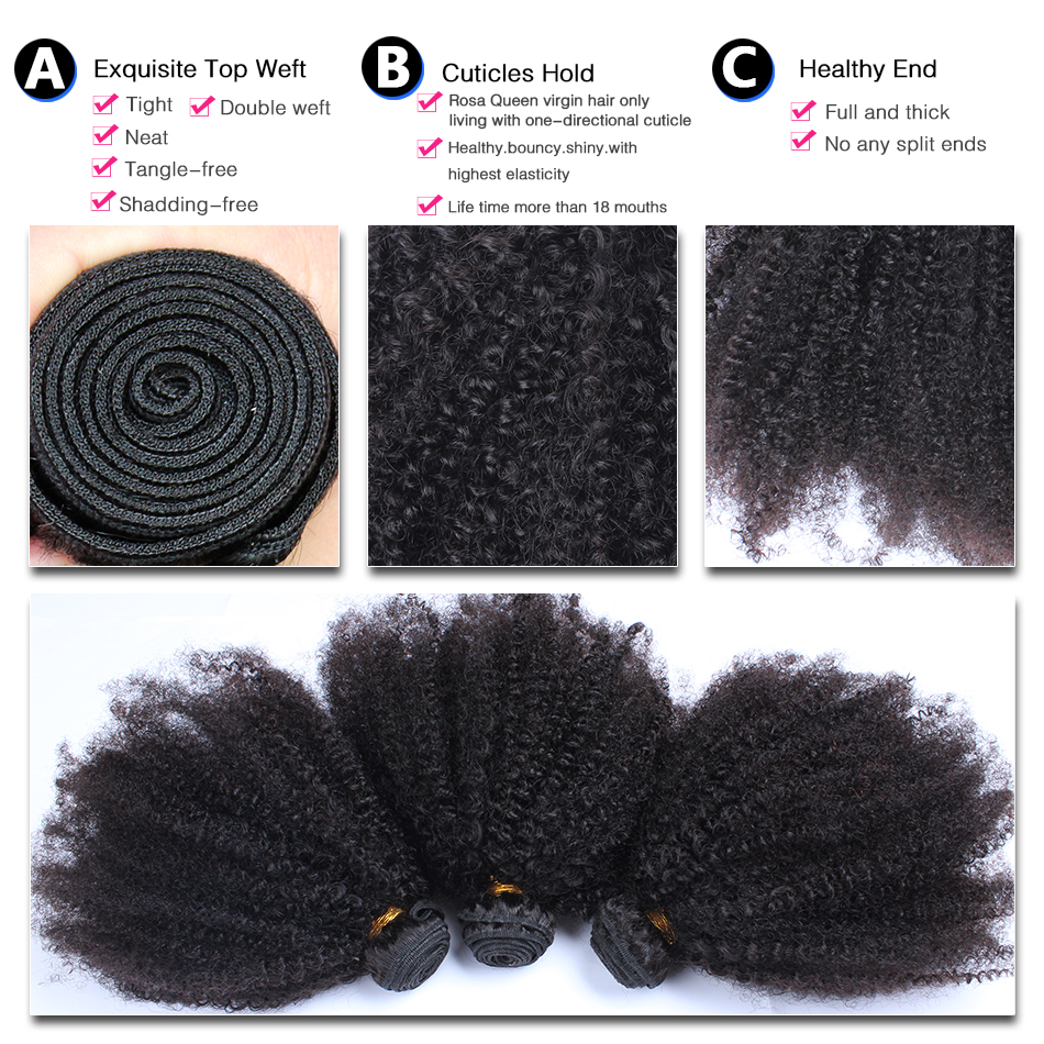 Mongolian-Afro-Kinky-Curly-Hair-Weave-3-Human-Hair-Bundles-With-Closure-4-Pcs-Lot-Natural (2)
