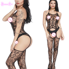 Buy Sexy Hot Erotic Open Bra Skull Bodystocking Garter Belt Cami Lingerie Catsuit Costums Teddy Bodysuit Latex Catsuit Wetlook