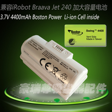 4400mAh 3.7V Replacement battery for iRobot Braava Jet 240 battery 241 battery