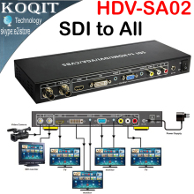 SDI to ALL Scaler Converter SD, HD and 3G-SDI With LOOP OUT To HDMI,DVI,VGA,CVBS,Analog Composite Converter Splitter Extender