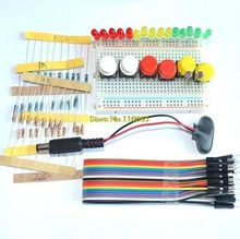 Smart Electronics Starter Kit Uno r3 mini Breadboard LED jumper wire button(China)