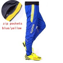 men's Running pants soccer pants tracksuits Soccer Jogging Trousers Sports Leggings GYM sweat pants for men with zip pockets