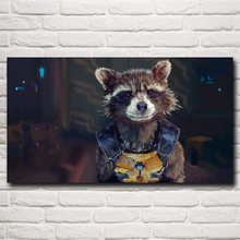 Guardians of the Galaxy Rocket Raccoon Marvel Comics Movie Silk Poster Home Decor Pictures 11x20 16x29 20x36 Inch Free Shipping