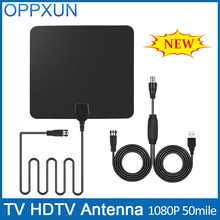 TV Antenna HDTV Antenna Amplifier Outdoor TV Antenna 50 Mile Range F Male with High Signal Amplifier