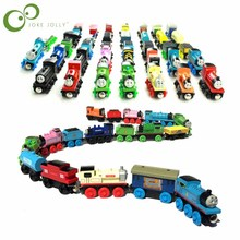 Wooden Magnetic Thomas Circus Train Donald Lady Gordon Friends Lorry Track Railway Vehicles Diecast Toys for children GYH
