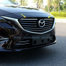 New Chrome Front Grille Cover Trim For Mazda 6 Atenza 2016 2017