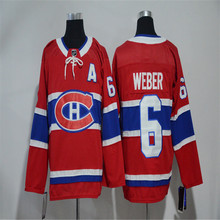 Mens Shea Weber Embroidered Throwback Hockey Jersey Size M-3XL(China)