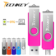 OTG pen drive 4GB 8GB 16GB 32GB Metal USB Flash Drive Phone Rotatable OTG pendrive external storage Micro usb memory stick