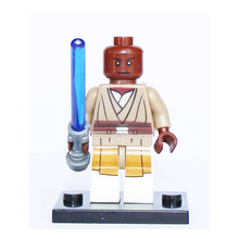 PG677 Master Mace Windu with Lightsaber Single Sale STAR WARS Rogue One Jedi Mini Dolls Assemble Building Blocks Kids Gift Toys