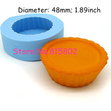 Free Shipping GYL251U Cupcake Cake Tart Bottom 48mm Silicone Mold Chocolate Fondant Cake Decoration Soap Candle Biscuit Moulds