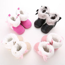 Cute Infant Toddler Baby Girl Soft Sole Crib Shoes Sneakers Newborn Bow Boots for 0-18M(China)