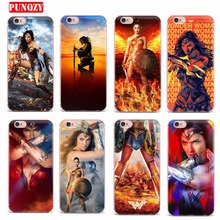 Case FOR iPhone 7 X 6 5S 8 7 Plus Soft TPU Transparent Cases Cover Lovely Wonder Woman Series Mobile Phone Shell Patterned Style(China)