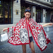 2017 New Scarves Women 180*100cm National Wind Tiger Print Cotton and Linen Scarf Spring Summer Fashion Shawl Pashmina