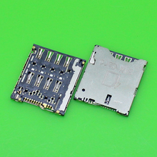 2pcs/Lot New For HTC One S Z520E G25 Sim Card Reader Holder Socket Tray Slot Connector.(China)