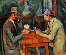 hand-painted oil painting reproduction of Cezanne famous artists painting hand-made canvas art  Card players-2