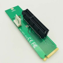 Buy Adapter Male Female PCIE Multiplier New NGFF M2 M.2 PCI-E 4x 1x Slot Riser Card BTC Miner Mining Machine for $4.66 in AliExpress store
