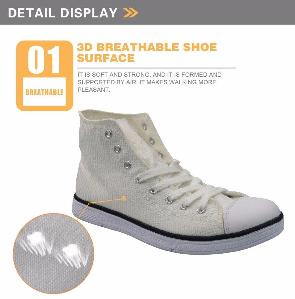 FORUDESIGNS Female Fashion 2017 Casual Canvas Shoes Women 3D Unicorn Pattern Women's High Top Vulcanize Shoes Flats Autumn Mujer