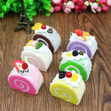 Artificial Cake Egg Rolls Model PU Material  Photography Home Decoration Artificial cake