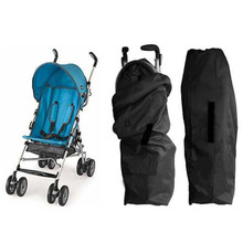Oxford Cloth Car Air Stroller Pram Baby Bag Buggy Travel Cover Case Black Stroller Accessories(China)