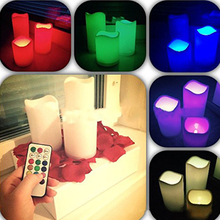 Multicolor Led Creative Electronic Candles 18 Button timing Romantic Wedding Birthday Party Home Decoration Light Bar Hotel Vela