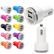 Micro Auto Universal Dual USB Car Charger A Adapter For iPhone Android Mini Charger Cigar Socket For HTC Samsung LG