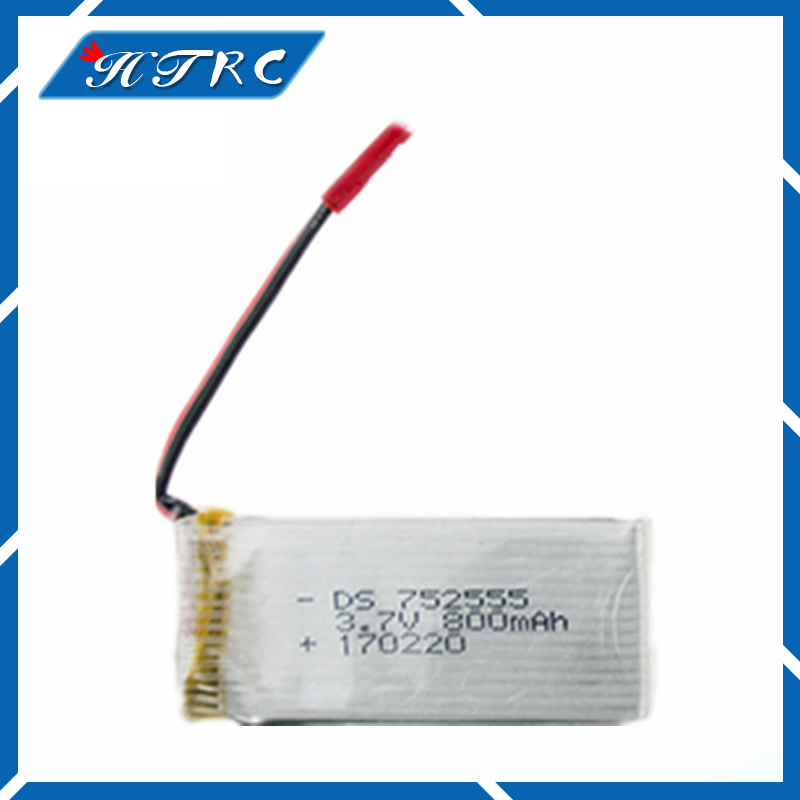 3.7V 800mAh Battery Di Fei da DFD F181 F187 F163 H12C H12W quadrocopter 3.7 V 800 mAh li-po battery 752555 10pcs V686