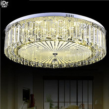 Circular lamp modern Luxury lampcrystal lamp led light bedroom lamp lighting restaurant Ceiling Lights high quality(China)