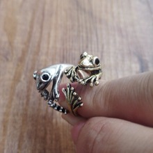 The Frog Prince Rings Cute Animal Rings Frog Wrap Rings Fox Ring Unique Trendy Design Garen Tin