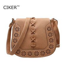 CIKER New Vintage Hollow Weave Women's messenger bags fashion women PU handbags casual small Crossbody Bags cute Shoulder bags