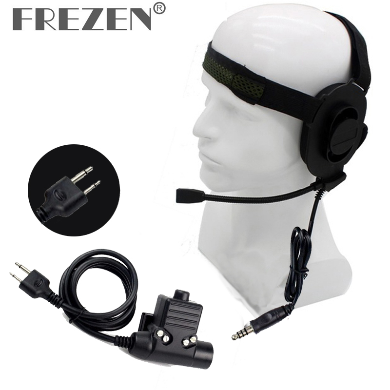 XQF-HD01-Z-Tactical-Bowman-Elite-II-Headset-with-Peltor-Style-PTT-For-Kenwood-BaoFeng-Two