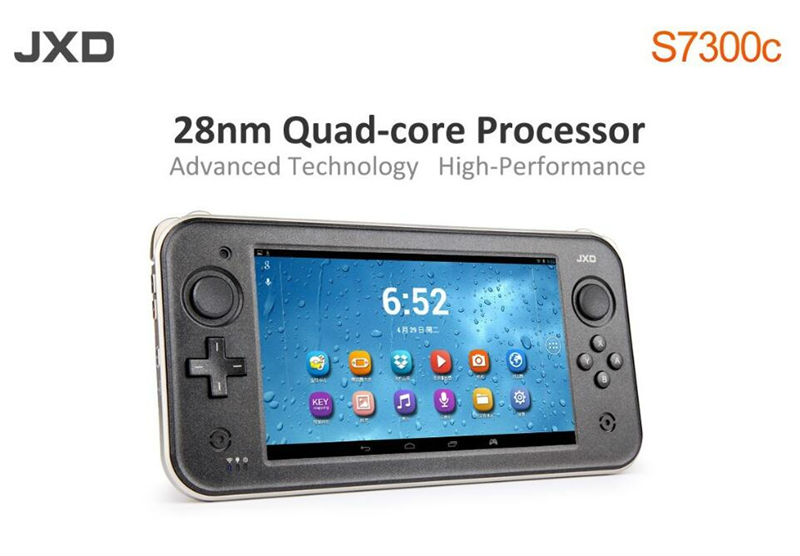 High Performance JXD S7300c 7 inch touch screen wifi hdmi quad core android game console handheld video games player tablet(China)