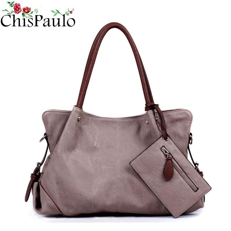 CHISPAULO Luxury Brand Designer Handbags High Quality Casual Cowhide Genuine Leather Bags Composite Women Purses And Handbags<br>