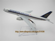 16cm Alloy Metal Air Singapore Airlines Boeing 777 B777 Airways Airplane Model Plane Model W Stand Aircraft  Gift