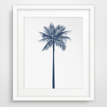New Palm Tree Navy Blue Canvas Painting Wall Art Posters and Prints Nordic Oil Pictures For Kids Living Room Home Decor No Frame