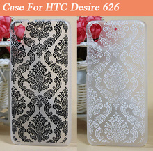 Black And White Vintage Paisley Flower Painted Case For HTC Desire 626 626G 626G+ Phone Shell Cover Hot Selling Case For HTC 626