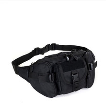 Outdoor Tactical Waist Pack Special Duty Weapons Tactics Sport Ride Motorcycle Waterproof Utility Waist Pouch Black