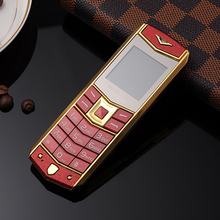 MAFAM A8 Russian Arabic Spanish French Vibration Luxury metal body car logo dual sim Mobile phone with leather case gift P234(China)