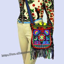 6e0c4a470a3d Vintage Hmong Tribal Ethnic Thai Indian Boho shoulder bag message bag for  women linen handmade embroidery Tapestry SYS-005C