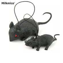 Milkmico Hot Selling Funny Goofy Fake Animal Mouse Halloween Decoration Props The simulation of Mice Cosplay Trick Toys(China)