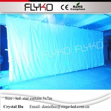LED star curtain 3x7m 30 sets of programs SD controller with Remote control full color led star background wall