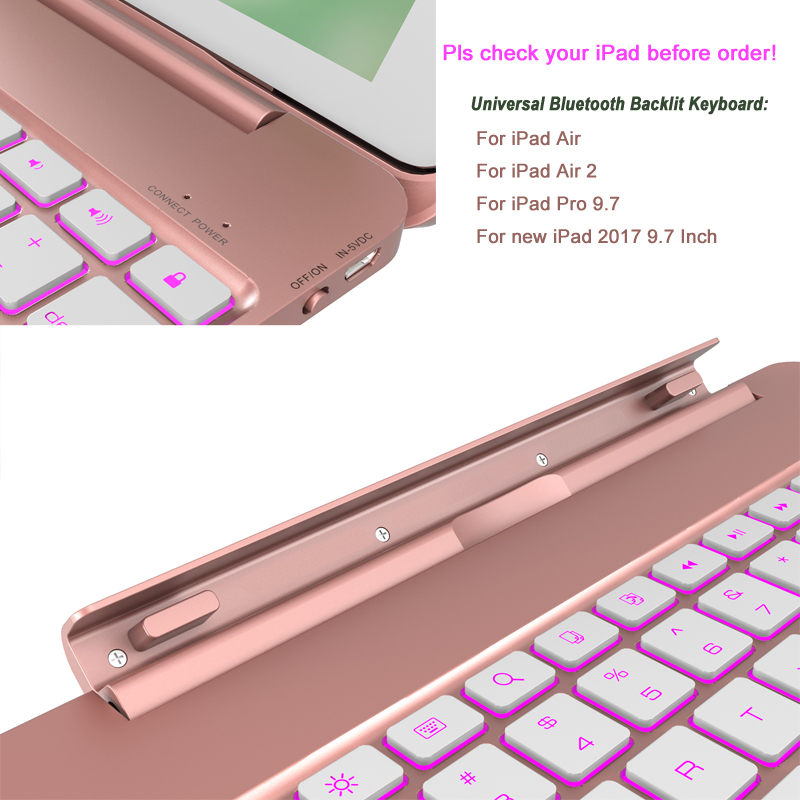 For ipad air keyboard Case 6
